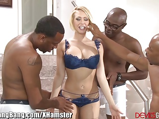 Kagney Linn Karter Gangbanged by Black Guys