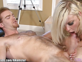 GirlsAndStuds Busty Blonde Babe Fucked on Pool Table