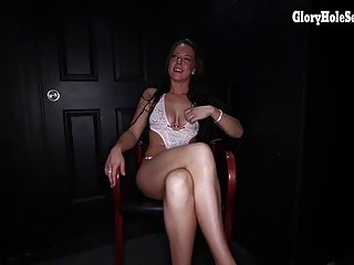 New Vee sucks off and swallows strangers at a gloryhole