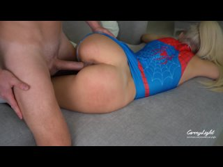 CarryLight Spider Girl Loves Double Penetration Unprotected Creampie With Stranger
